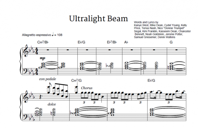ultralight-beam-kanye-west-ft-the-dream-kelly-price-kirk-franklin-chance-the-rapper-sheet-music-and-midi-download-1